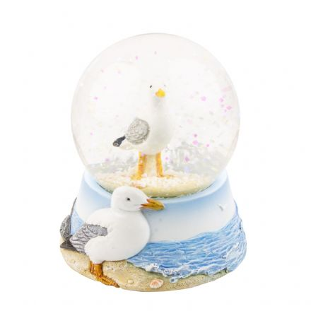 Glass Seagull Sea Bird Coastal Water ball Snow Globe